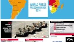 记者无国界网站截屏(2014年6月3日)