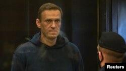 Udhëheqësi opozitar rus Alexei Navalny gjatë senacës gjyqësore në Moskë, Rusi (2 shkurt 2021)