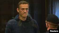 Russian opposition leader Alexei Navalny attends a court hearing in Moscow, Russia February 2, 2021