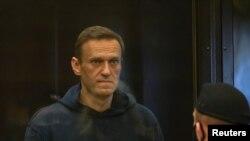 Олексій Навальний в російському суді 2 лютого 2021 р.