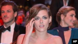 U.S actress Kristen Stewart attends the 40th Cesar Film Awards at Theatre du Chatelet in Paris, Feb. 20, 2015.