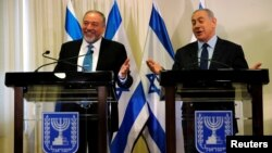 Авигдор Либерман и Биньямин Нетаньяху