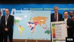 国际透明组织在台北召开记者会(美国之音张永泰拍摄)