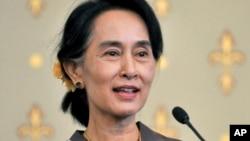 缅甸反对派领导人昂山素季12月1日在墨尔本