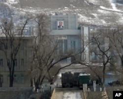 中国图们对面的朝鲜城市(资料照片)