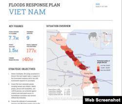 LHQ công bố kế hoạch vận động 40 triệu đôla hỗ trợ Việt Nam khắc phục hậu quả lũ lụt. Photo Vietnam.UN.org