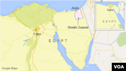 이집트 세이크 주웨이드 지역.