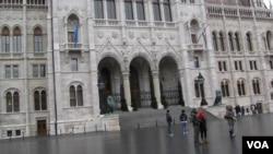 布达佩斯的匈牙利议会大厦。