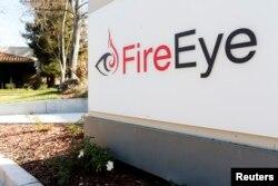 """美国加州的网络安全公司""""火眼(FireEye)""""的标徽(2015年1月1日)"""