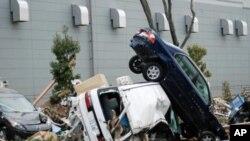 遭受地震海啸灾难的日本仙台地区