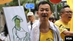 人民力量立法會議員陳志全 (美國之音特約記者 湯惠芸拍攝 )