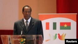 FILE - Burkina Faso's ousted President Blaise, Oct. 31, 2014.