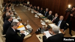 Le gouvernement marocain à Rabat, le 5 janvier 2012