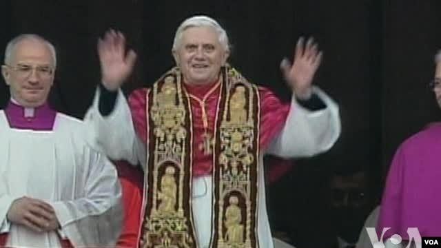 Le pape Benoît XVI .