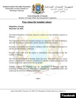 Warqadda Wasaaradda Arrimaha Dibedda