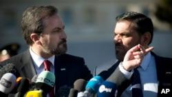 시리아 평화협상에 참석한 루에이 사피 시리아 국가연합 대변인 (자료 사진)