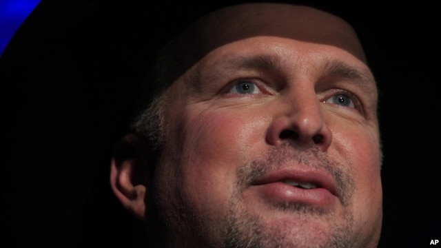 Garth Brooks speaks at the Country Music Hall of Fame Inductions on Oct. 21, 2012 in Nashville, Tenn.