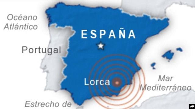 Earthquake in Murcia, Spain. May 11, 2011