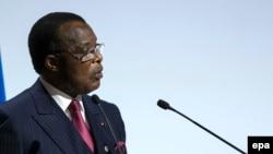 Le président congolais Denis Sassou Nguesso, 30 novembre 2015. epa/ ETIENNE LAURENT