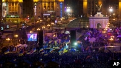 Protesters rally at Independence Square in Kyiv, Ukraine, on Dec. 2, 2013, as anger mounted at the president's decision to ditch a deal for closer ties with the European Union.