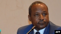 FILE - Niger's Interior Minister Hassoumi Massaoudou attends the opening ceremony of a meeting gathering interior ministers of the G5 Sahel group on May 14, 2015 in Niamey.