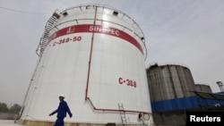 位於中國武漢的一個儲油裝備。