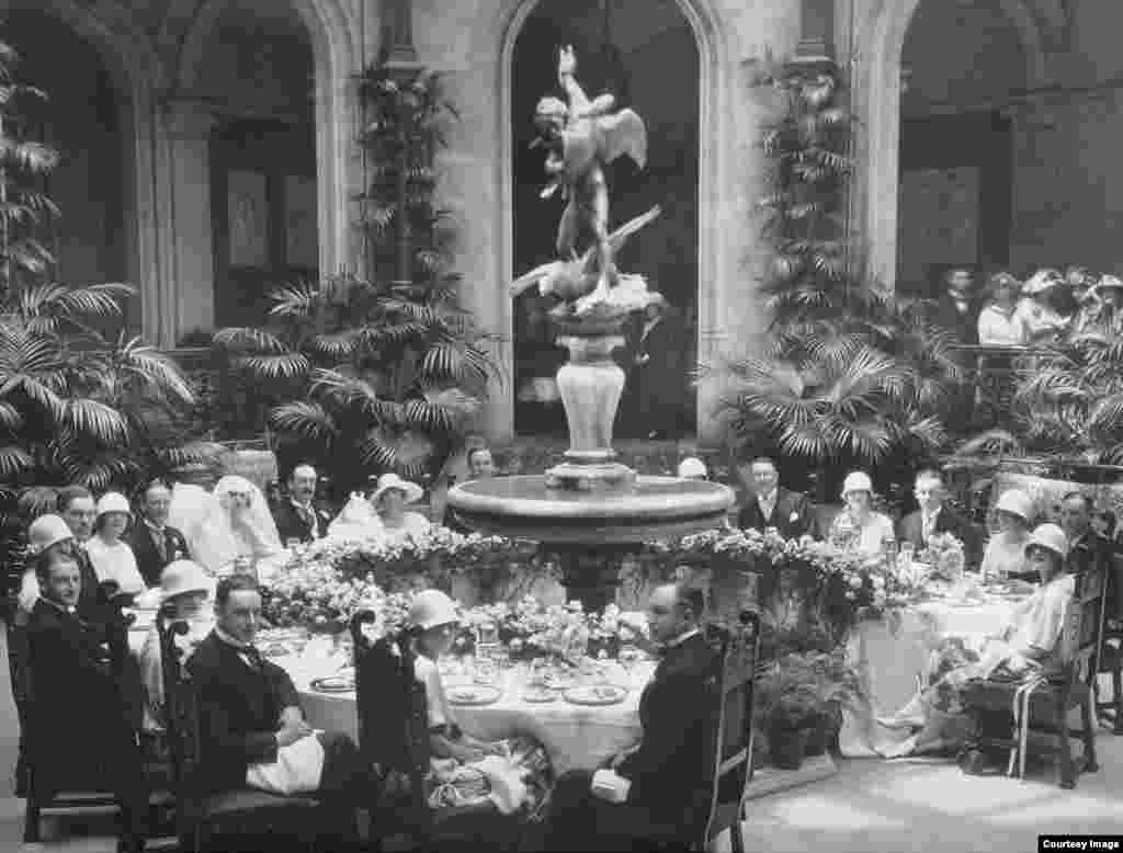 A garden party from the days of the Vanderbilt family.