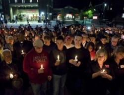 A candlelight vigil in New Brunswick, New Jersey, to remember Rutgers University student Tyler Clementi, who killed himself