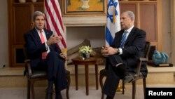 美國國務卿克里星期三在耶路撒冷和以色列總理內塔尼亞胡見面﹐