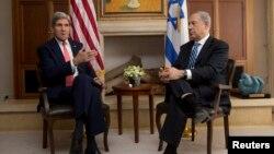 美國國務卿克里11月6日在耶路撒冷會晤內以色列總理塔尼亞胡
