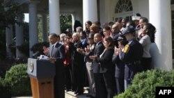 Выступление Барака Обамы в Розовом саду Белого дома