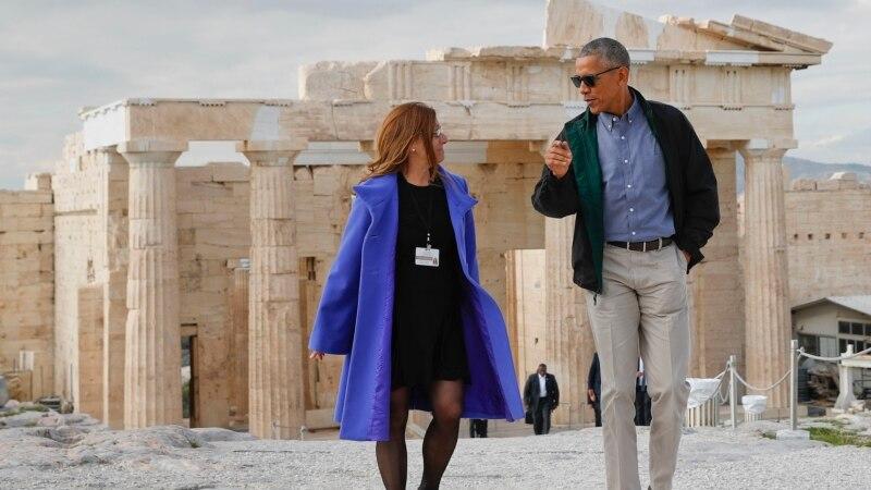 барак обама посетил акрополь