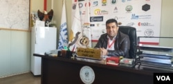 Rashid Darwesh Safti, a senior camp manager for the Barzani Charity Foundation in the Kurdistan Region in Iraq warns that extremism thrives in places where IS families remain isolated on Feb. 23, 2019, in Hassan Sham, Iraq. (H.Murdock/VOA)