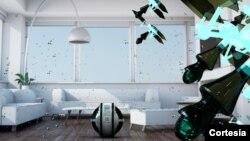 Esta es una imagen conceptual de cómo MAB y sus mini-robots harían el trabajo de limpieza en nuestras casas. [Foto: MAB]