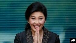 泰國前總理英祿8月1日資料照。