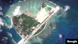 卫星图片显示永兴岛