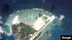Gambar satelit ini menampilkan pulau Woody, pulau terbesar di kepulauan Paracel (Foto: dok).