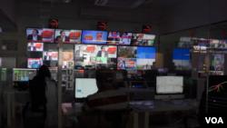 پاکستان کے نجی نیوز چینل کے نیوز روم کا منظر