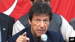 د تحریک انصاف سیاسي ګوند مشر، عمران خان د وینا پر حال
