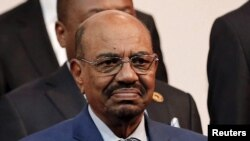 FILE - Sudan's President Omar al-Bashir is seen ahead of the African Union summit in Johannesburg, South Africa, June 14, 2015.
