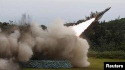 호크 지대공 미사일 발사장면(자료사진)