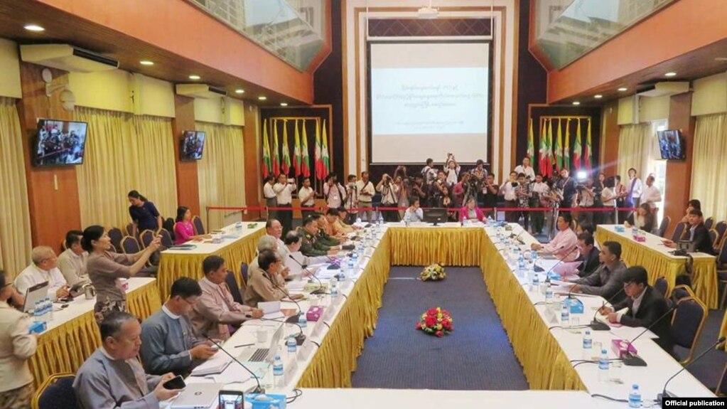 ၿငိမ္းခ်မ္းေရးေကာ္မရွင္ (Peace Commission) ႏွင့္ ႏိုင္ငံေရးဆိုင္ရာ ညိႇႏိႈင္းေဆြးေႏြးေရး ကိုယ္စားလွယ္အဖြဲ႕ (Delegation for Political Negotiation) စတုတၳအႀကိမ္ အစည္းအေ၀း။ (မတ္ ၃-၂၀၁၇)