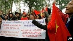 Một cuộc biểu tình chống Trung Quốc tại Hà Nội tháng 9, 2007.
