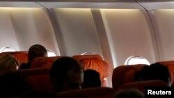24일 스노든이 예약한 걸로 알려진 쿠바행 비행기 내부. 하지만 실제로는 탑승하지 않은 것으로 확인됐다.