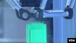 在打印中的3D打印機
