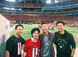 Daniel Fu, WNI dI Atlanta, Georgia, bersama keluarga. (Foto: Dok Pribadi)