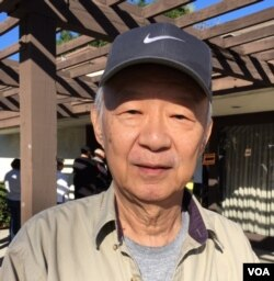 "Jeff Chang, 70, says the global economy is the big issue in the presidential election. He voted for Hillary Clinton as president. ""It's an important role,"" he said, ""so we have to be careful to choose the right person."" (M. O'Sullivan/VOA)"