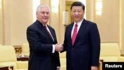 Рекс Тиллерсон и Си Цзиньпин. Пекин, Китай. March 19, 2017 г.