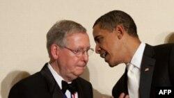 Барак Обама и Митч Макконелл в Белом доме