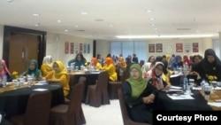 Sebanyak 64 Caleg perempuan DIY mengikuti pelatihan kampanye tanpa politik uang. (foto: IDEA Yogya)